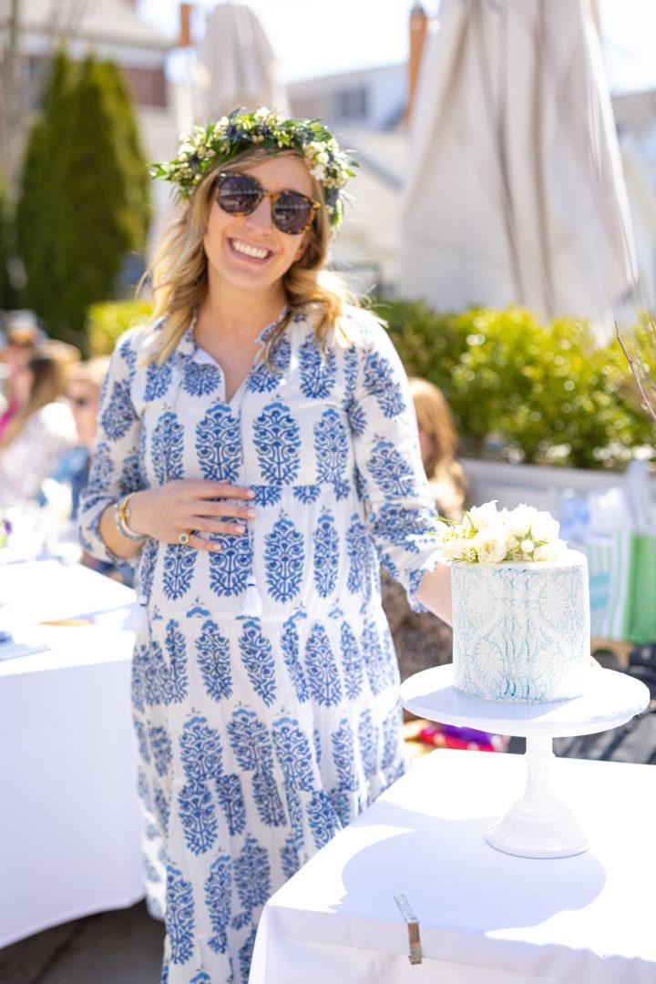 Eva Amurri shares an Intimate Baby Sprinkle for fellow blogger Julia Dzafic of Lemonstripes.com