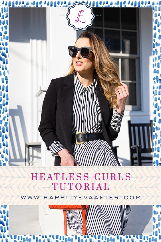 Eva Amurri shares a Heatless Curls Tutorial