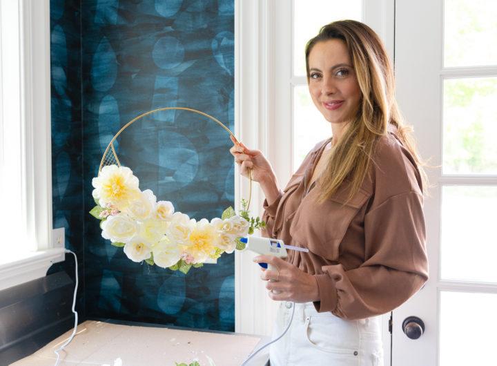 Eva Amurri shares her DIY Floral Hoop Wreaths