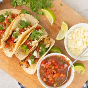 Eva Amurri shares an Easy & Delicious Grilled Chicken Tacos recipe