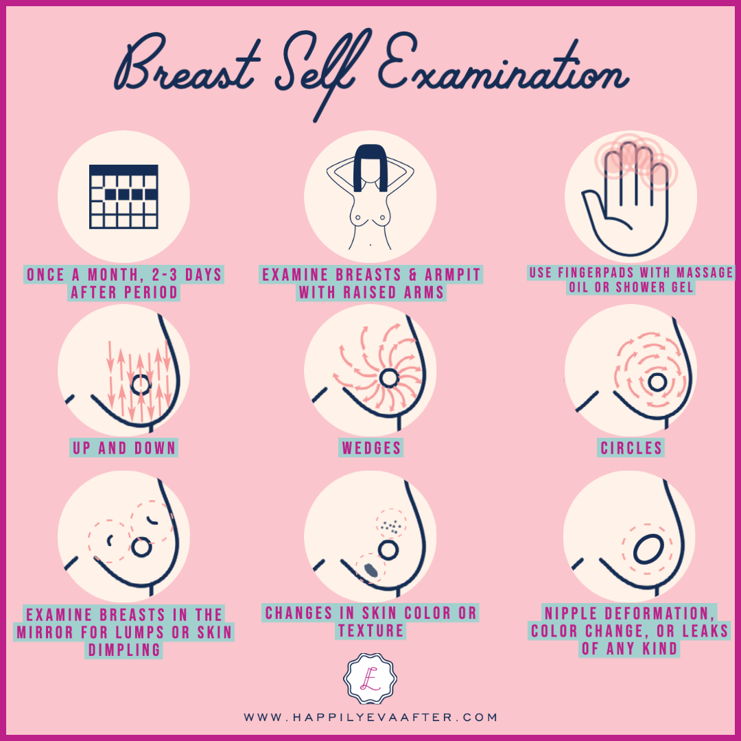 How to give yourself an at-home breast self examination | Happily Eva After | www.happilyevaafter.com