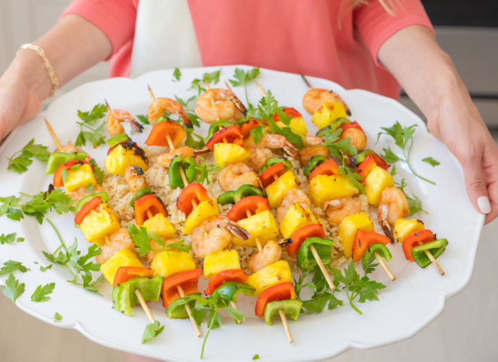 Eva Amurri shares a recipe for Sweet & Sour Grilled Shrimp Skewers