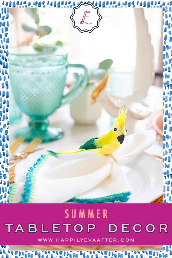 Eva Amurri shares her favorite Summer Tabletop Decor | Happily Eva After | www.happilyevaafter.com