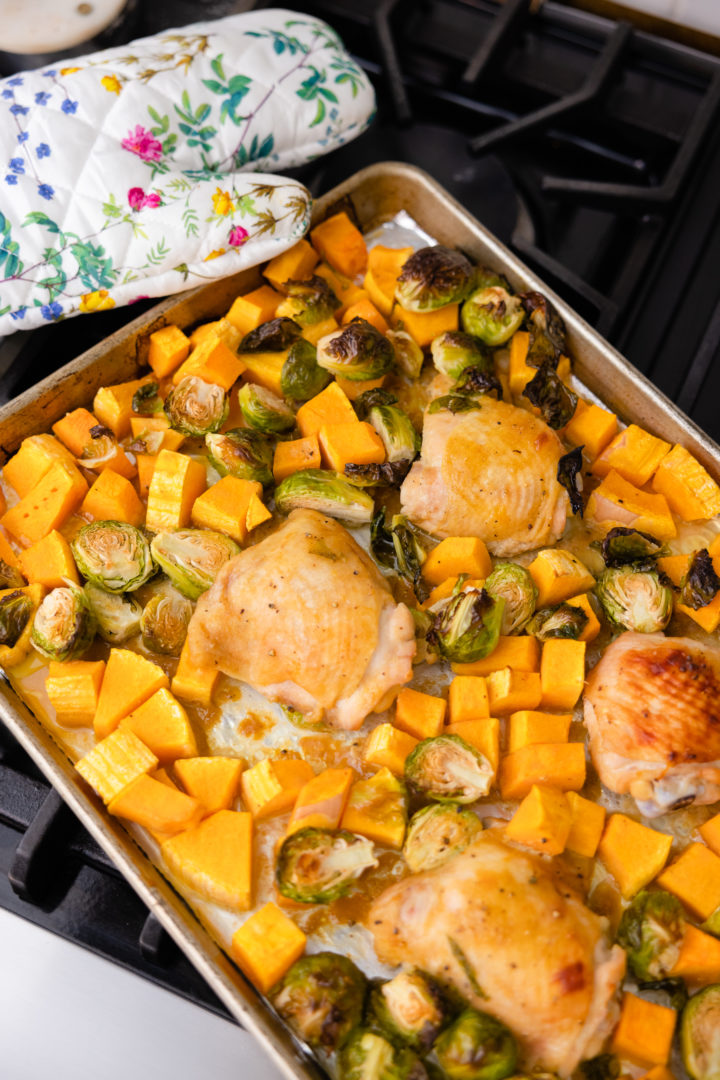 Eva Amurri shares a One-Pan Garlic Maple Dijon Chicken recipe
